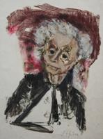 Porträt Ilse Schunke   Lithographie