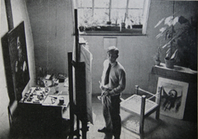 Joachim Heuer im Atelier 1932
