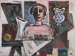 Joachim Heuer: Stillleben mit Zeitung